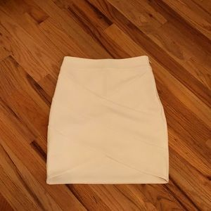 Express White Bodycon Skirt Size 2